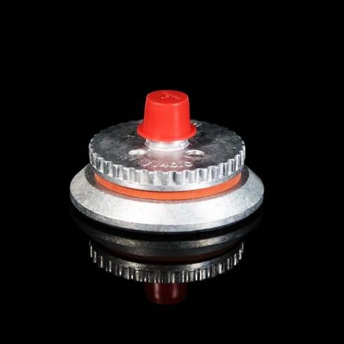 Valve Vac Valve 401 C de l'aluminium/silicone pour une connexion rapide de vide