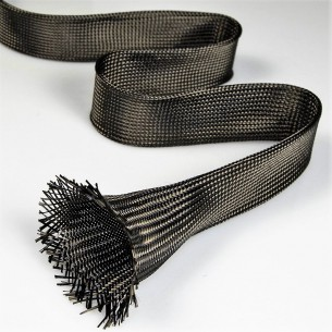 Carbon Braided Sleeve of 35 mm and 34 g/m for Padel Rackets