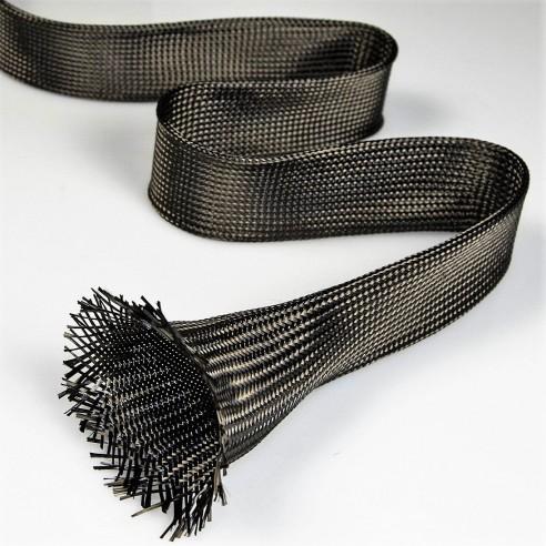 Filet de carbone tubulaire 19 mm et 362 g/m2