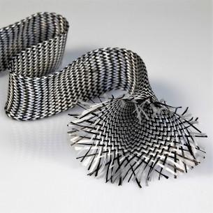 Malla de carbono/vidrio tubular de 40 mm y 39,80 g/m lineal para Palas de Padel