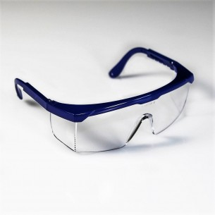 FLASH anti-abrasion polycarbonate safety glasses blue color.