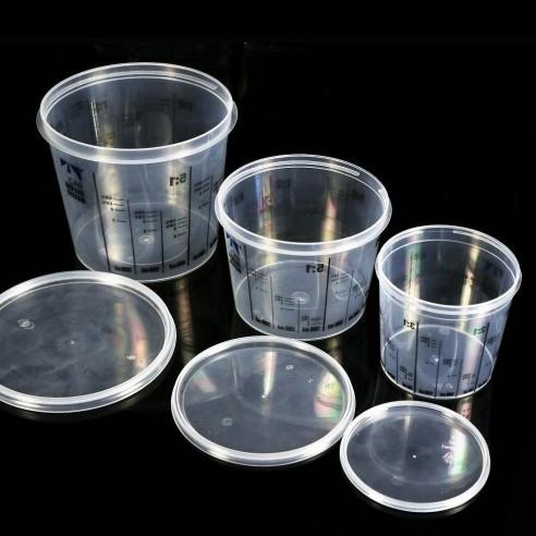 Vaso de Plástico para Mezclas con Tapa