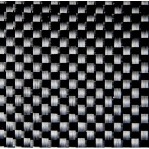 Di carbonio tessuto taffetà GG 200 P 200 g/m2, con una filettatura di fissaggio in poliammide, larghezza 100 cm