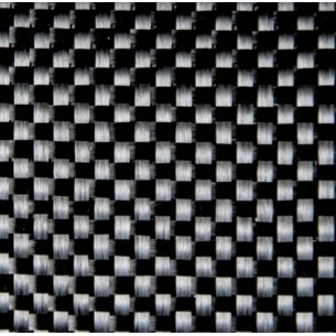 Tecido de carbono tafetá GG 200 P a 200 g/m2, com fixação de fio de poliamida, largura 100 cm