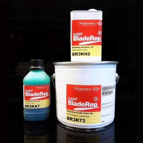Alexit Bladerep Profile Filler 3K, (20 kg) + Hardener  3K (5 kg) + Activator 3k Green (1 kg)
