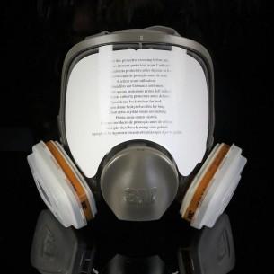 3M™ 6800S Máscara completa reutilizable con retenedores, filtros de gases y filtros de partículas