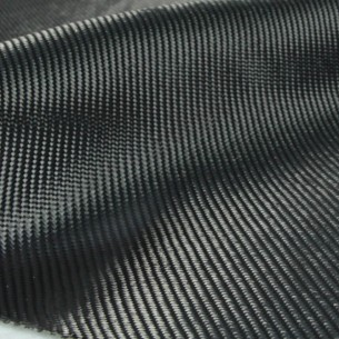 200 g/m2 Black Diolen Fabric 2x2 Twill, 120 cm wide