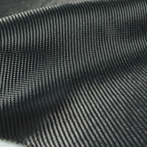 Carbon Woven Imitation black twill 200 g / m2