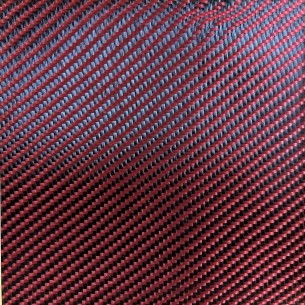 Polyester fabric 200 g/m2 Red, twill 2/2, DDc 200 T, width 120 cm