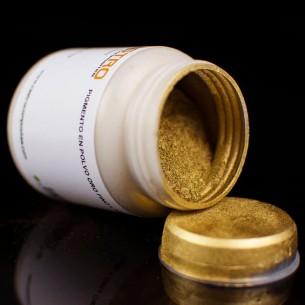 Particule métallique de l'Or fin