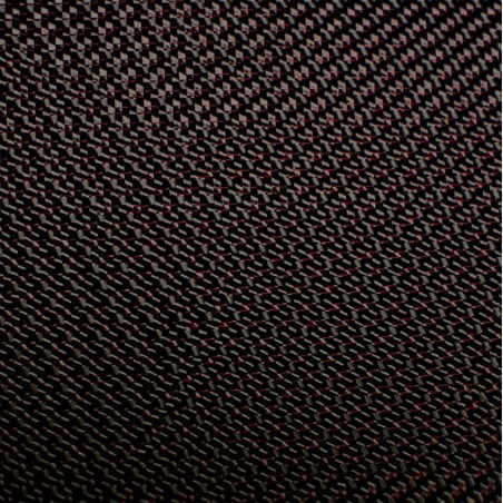 300 g/m2 Twill Carbon Fabric 300T Red Thread