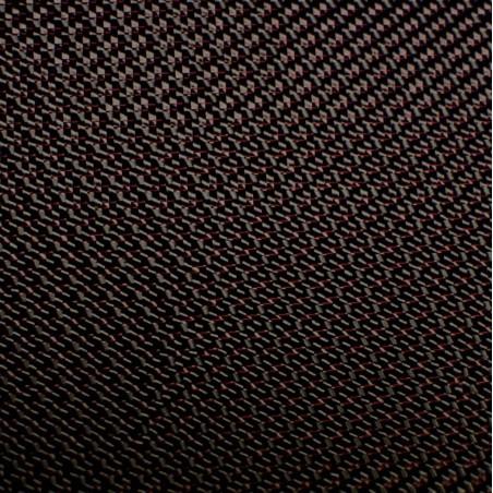Tejido de Carbono Sarga 300T Hilo Rojo