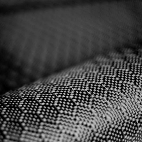 Tejido de carbono cosmético con diseño hexagonal 3K de 210 g/m2