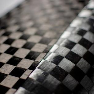 Tejido de Carbono Alu2 Spread Tow Tafetán 160 g/m2 (efecto aluminio), ancho 100 cm