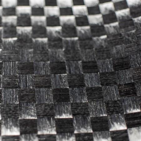 160 g/m2 Spread Tow Alu2 Plain Carbon Fabric (aluminium effect), 100 cm wide