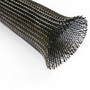 25 g/m 3K Carbon Braided Sleeve, diameter 45 mm