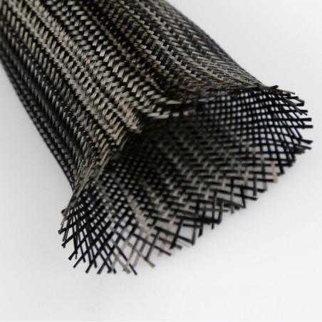 25 g/m lineal 3K Carbon Braided Sleeve, diameter 45 mm