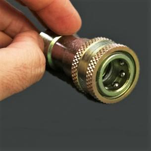 Conjunto de Enchufe Rápido con Válvula Anti-Retorno para conexión de vacío