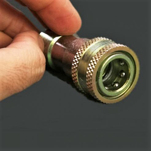 Conjunto de enchufe rápido + válvula antirretorno para conexión de vacío