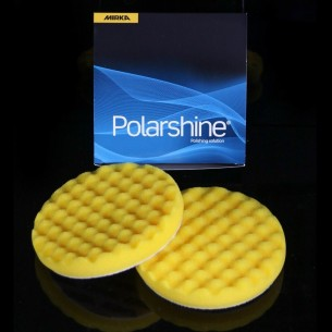 Polishing Foam Pad 150x25mm Yellow Waffle, 2/Pack