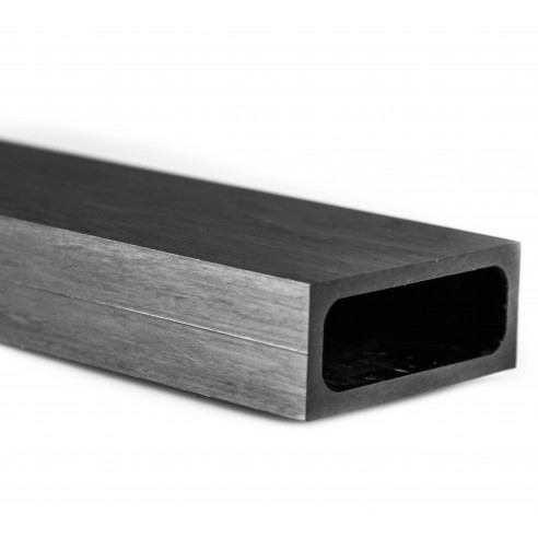 Rectangular Carbon Tube 50 x 20 mm, thickness 2,5 mm