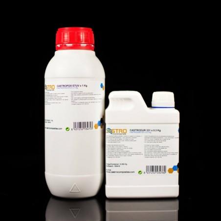 Castropox E7UV Gelcoat Epoxi Amarillo Limón resistente UV