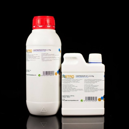 Castropox E7UV Gelcoat Pine Green Epoxy resistant to UV