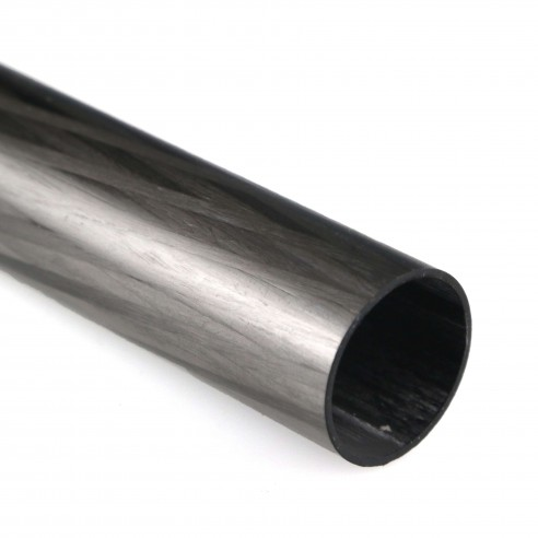 Round Carbon Tube, D. 25 mm, int. 23 mm