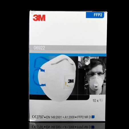 3M disposable mask with protection valve FFP2