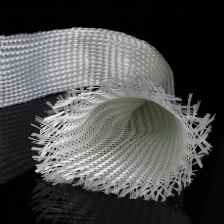 Tubular fiberglass mesh of 100 mm diameter and 203 g/linear metre