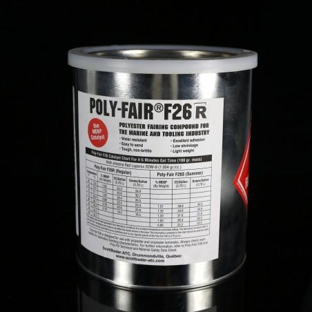 Poly-Fair® F26  Masilla poliéster para Modelos y Reparación de Barcos