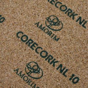 Núcleo de cortiça CORE CORK NL10 x 1250 mm x 2 mm