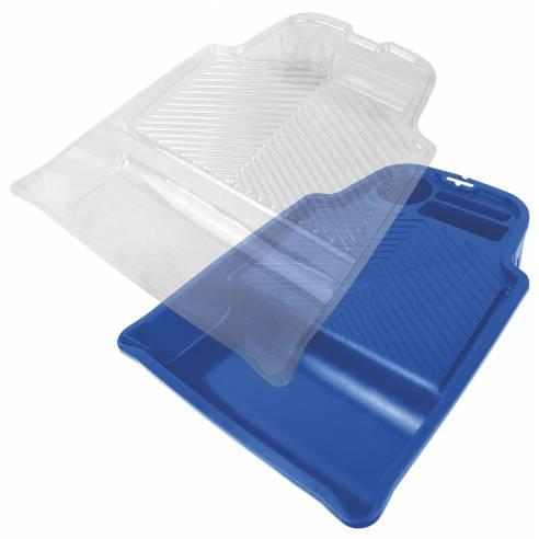 Flat Blue Plastic Tray Pro Extra 25 cm