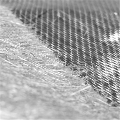 XM600/250 Combi Tapis de 600 g/m2 Biaxial E-Tissu de Verre (+45°/-45°) / Mat 250 g/m2, 127 cm de large