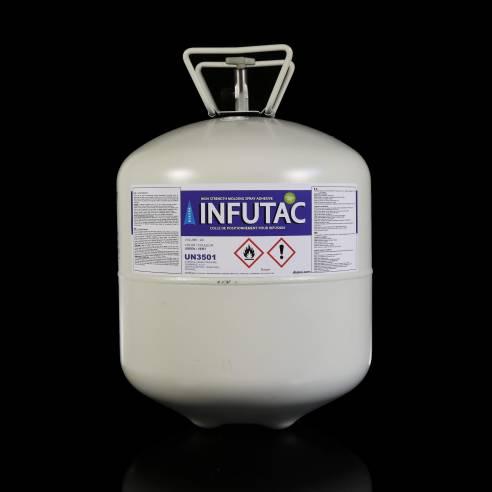 INFUTAC Spray Adhesivo de Posicionamento Verde 22L