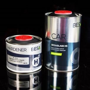 BESA GLASS / E-202 Esmalte Acrílico 2C Incolor Alto Brilho Arma