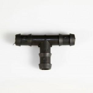 Conexão em T para tubos de 10 mm.