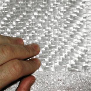 Complejo de Fibra de Vidrio Roving Mat 500-450 sarga 3 x 1, ancho 125 cm